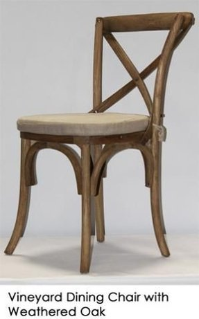 French cross back dining chair