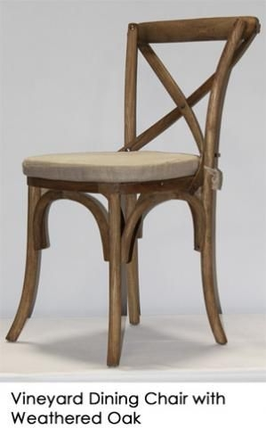 Gentil French Cross Back Dining Chair