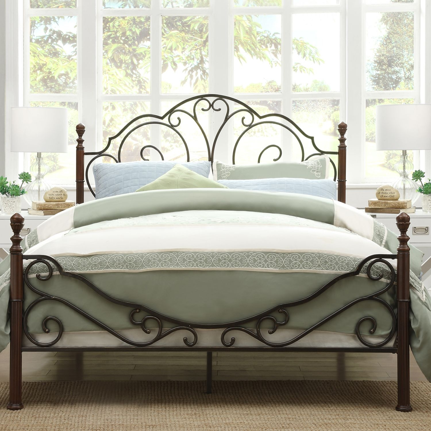 Simple Full Size Metal Bed Frame Property
