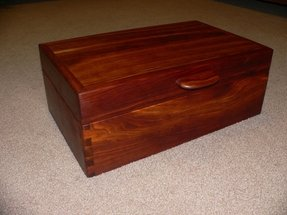 Cherry wood jewelry box foter for Solid wood jewelry chest