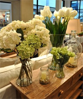 Hydrangea silk flower arrangements