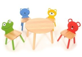 Marvelous Childrens Table And Chair Sets Wooden Ideas On Foter Interior Design Ideas Philsoteloinfo