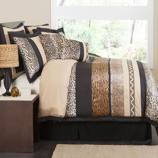 King size animal print comforter set 2