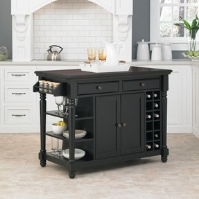 small kitchen storage cabinets island | Kitchen Island With Wine Rack - Foter