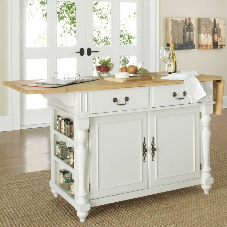 Merveilleux Kitchen Island With Wheels And Drop Leaf