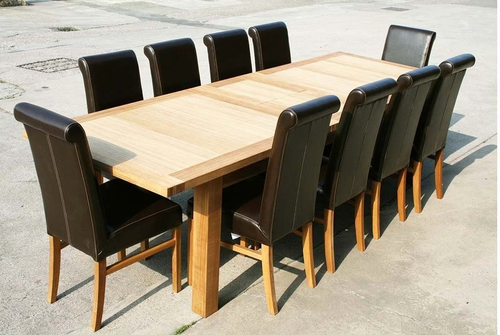 Large Dining Room Tables Seats 10 2