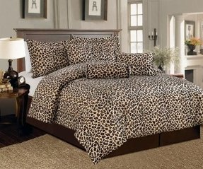 Leopard print bedding king size 1