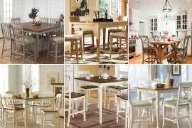 Nice Light Wood Counter Height Dining Sets