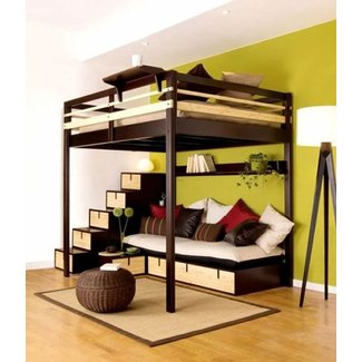 Loft beds with steps