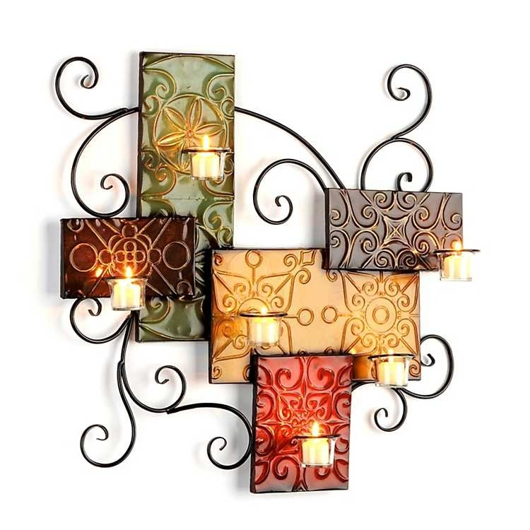 Metal wall candle holder  sc 1 st  Foter & Metal Wall Art Candle Holder - Foter