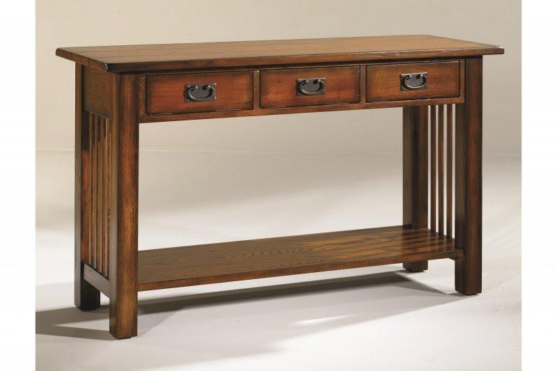Marvelous Mission Oak Console Table