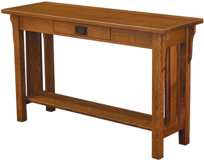 Superior Mission Oak Sofa Table 7