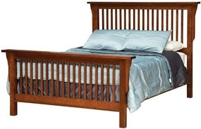 Mission style king size bed