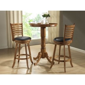 Oak pub table set
