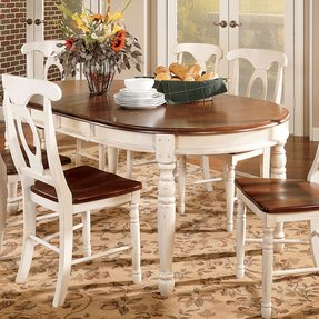 Oval dining table for 6 7