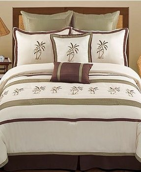 Pem america bedding montego bay palm tree beach house island