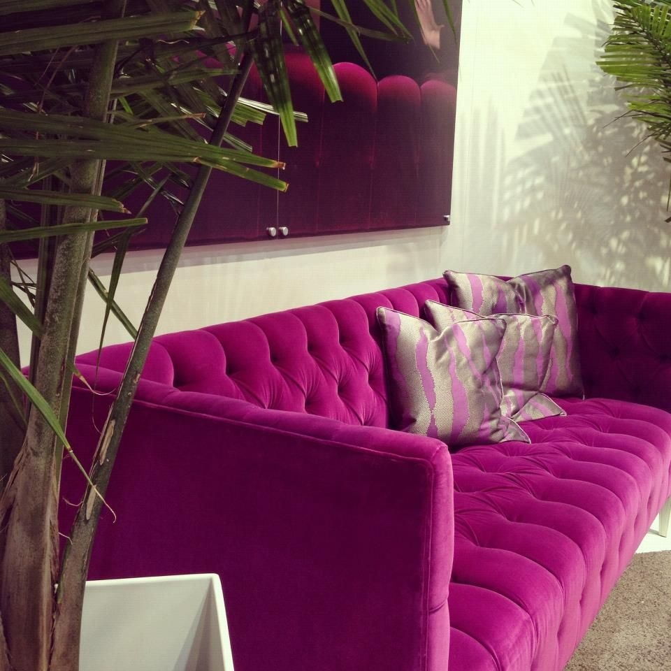 Pink Tufted Sofa 1