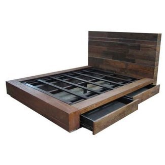 Platform bed full size with drawers