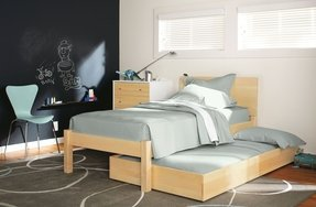 Platform bed trundle