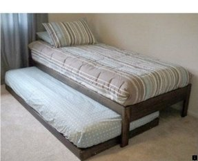 Platform bed with trundle