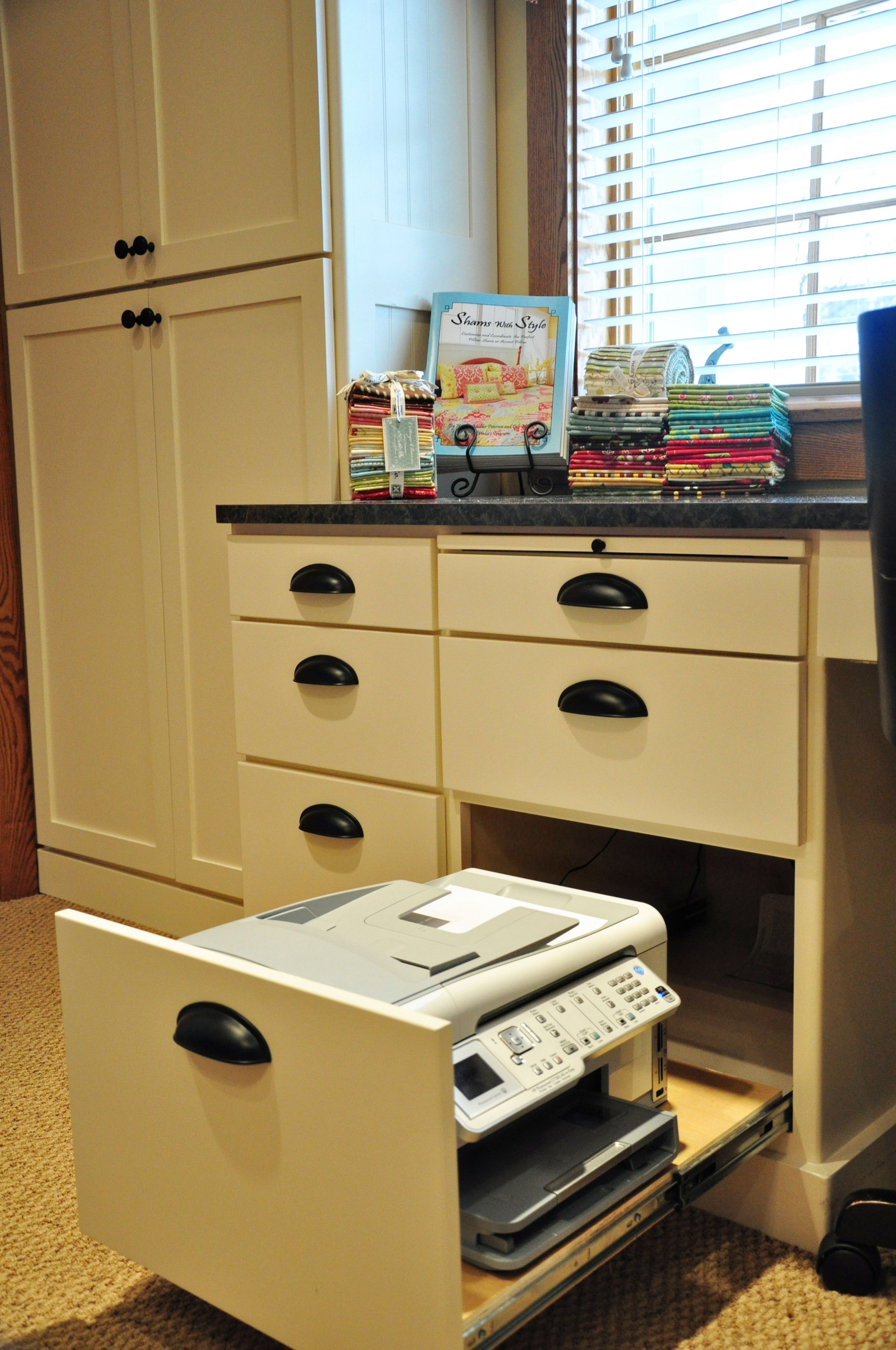 Printer Cabinet With Sliding Shelf