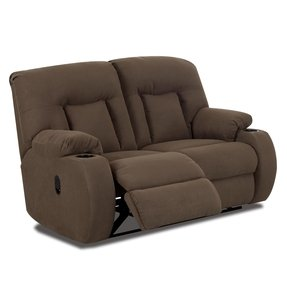 Reclining loveseats with cup holders
