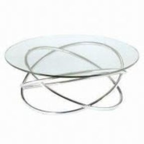 Round chrome coffee table 15