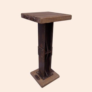 Rustic Forge Bar Height Square Bistro Table