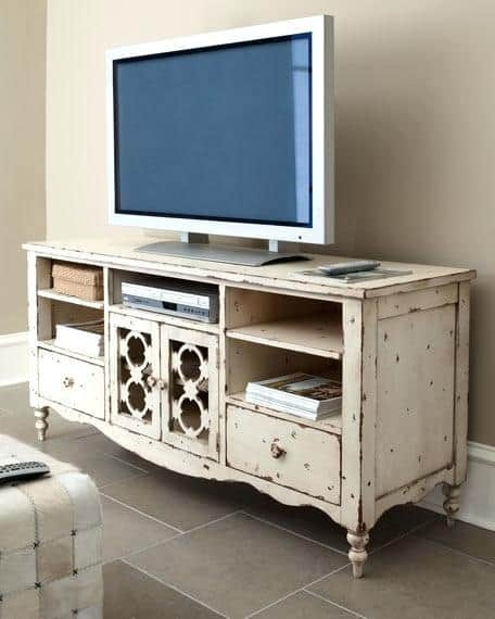 Rustic White Tv Stand