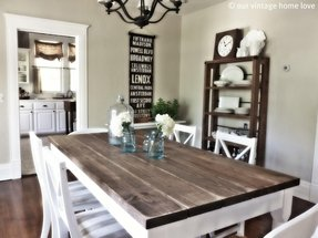 White Rustic Dining Table - Foter