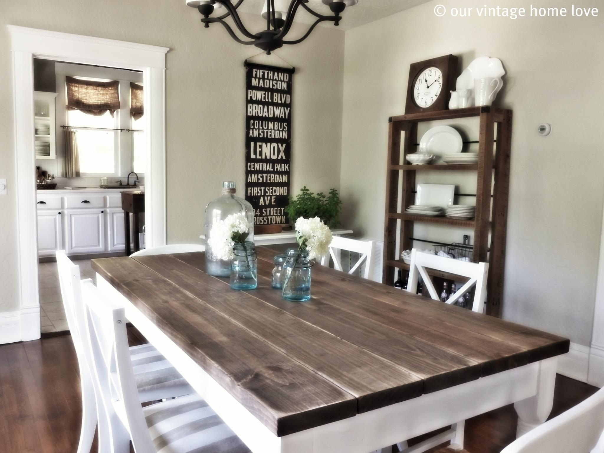 Beau Rustic Wood And Metal Dining Table   Ideas On Foter