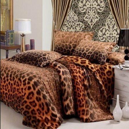 Beau Satin Leopard Print Bedding