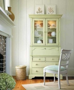 slp armoire antiqued hutch amazon view desk sauder secretary computer harbor paint com with