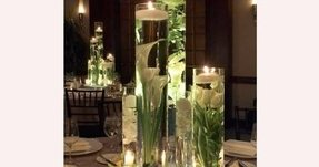 Flower Arrangements In Tall Glass Vases Vase And Cellar Image