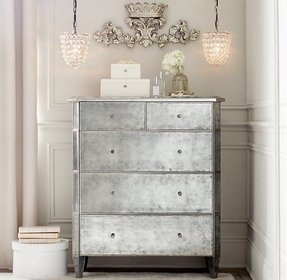 Silver chest of drawers 8