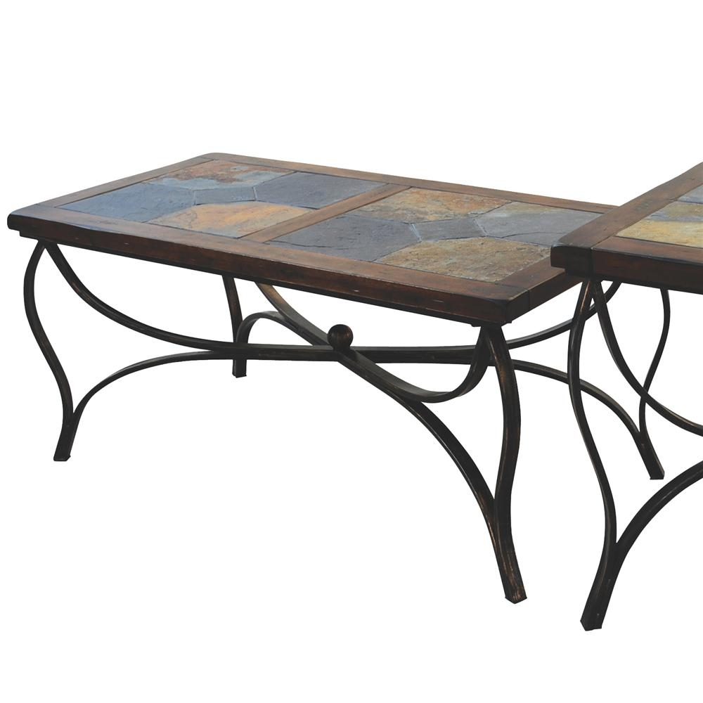 Gentil Slate Top Coffee Table