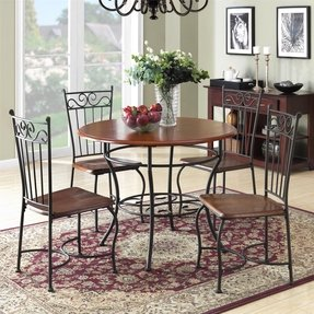 small round dinette sets foter. Black Bedroom Furniture Sets. Home Design Ideas
