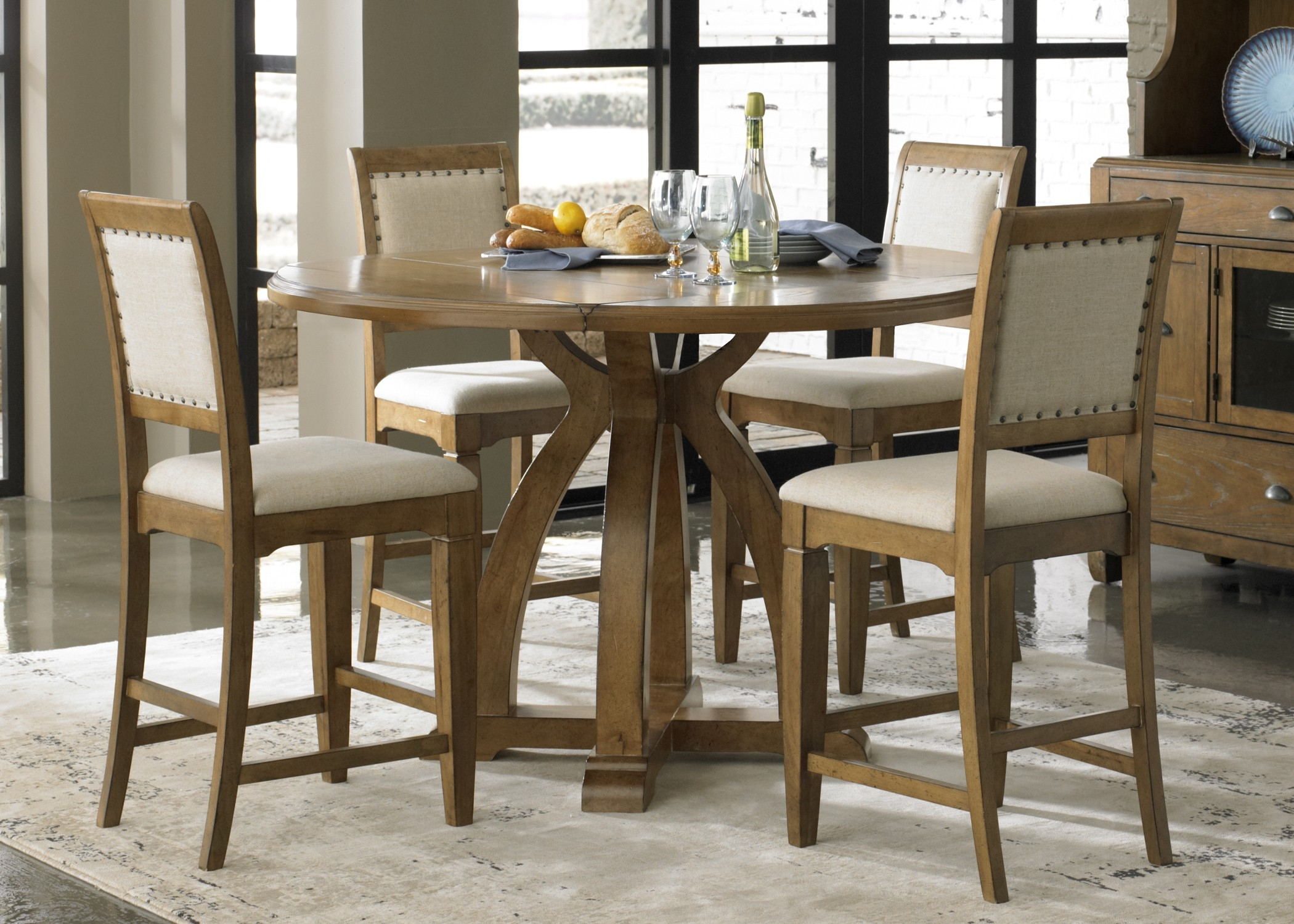 Solid Wood Counter Height Table And Chairs