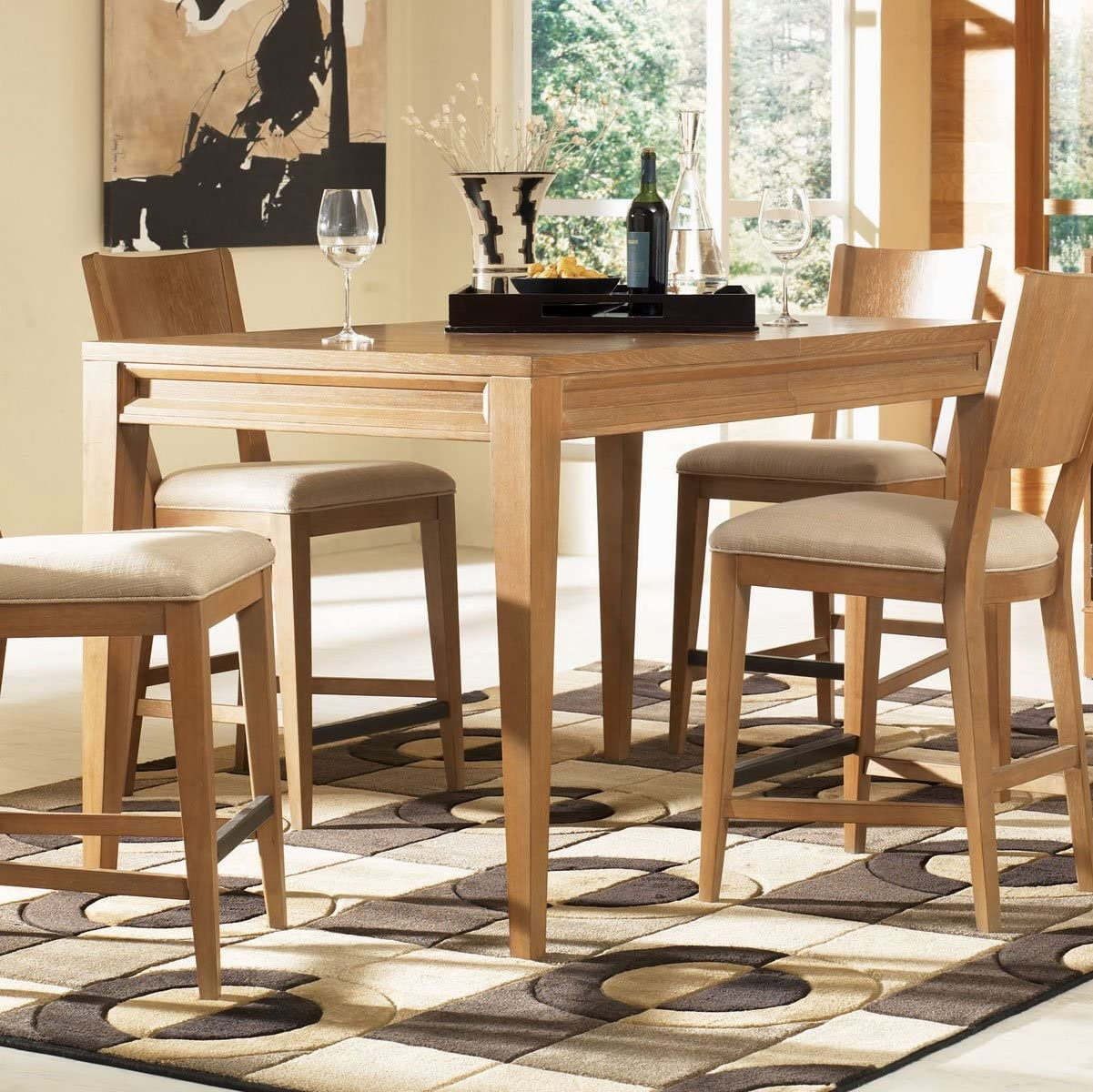 Solid Wood Counter Height Table. Dining Set Consisting ...