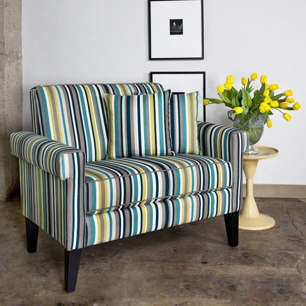 ... Striped Accent Chair With Arms 15