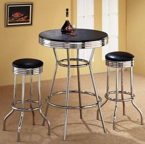 Awesome Tall Bistro Table And Chairs Ideas On Foter Onthecornerstone Fun Painted Chair Ideas Images Onthecornerstoneorg