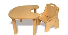 Toddler wooden table and chairs