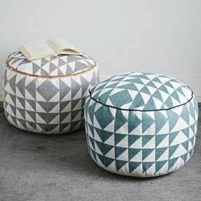 Triangle printed poufs