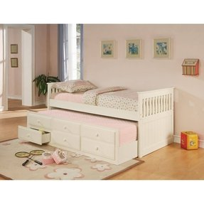 Twin captains bed with trundle and storage 3