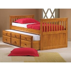 Twin captains bed with trundle and storage 9