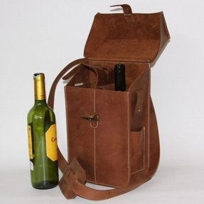 Two bottle wine tote brown how practical is this really