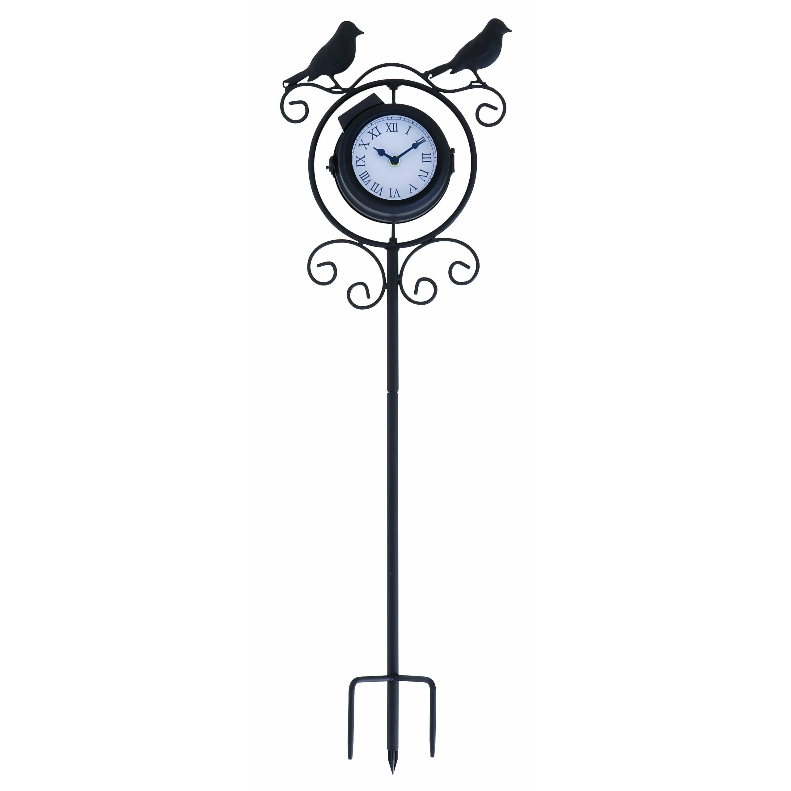 Uma Enterprises 35424 Metal Outdoor Clock Thermometer 9 By 30