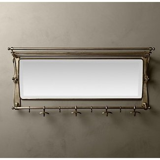 wall mounted coat rack with mirror foter. Black Bedroom Furniture Sets. Home Design Ideas