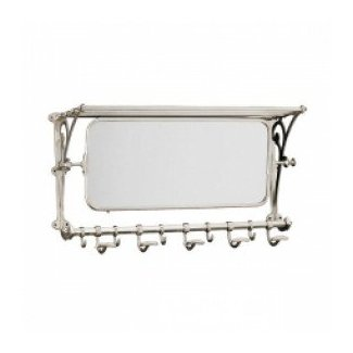Wall mounted coat rack with mirror 1