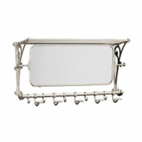 Attrayant Wall Mounted Coat Rack With Mirror 1